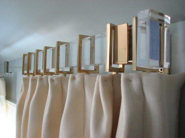 Lucite Curtain Rods modern curtain poles