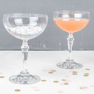 Glass Champagne Saucer - table decorations