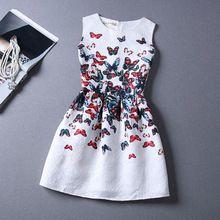 2015 Summer Style a la moda Butterfly Print mujeres vestido del partido De tarde elegante vestido De verano blanco fiesta Vestidos De Festa Robe(China (Mainland))