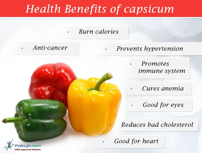 Know the #Benefits of  Different - Different Type Of #Capsicum available in #market that help in #burn #calories, prevent #BP, reduce #bad #cholesterol etc. Click to know more.. PolicyX.com