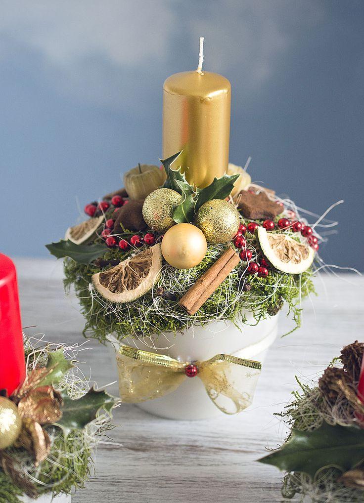 Christmas decor, natur&gold  https://www.facebook.com/kvetinovyobchodik/?fref=ts