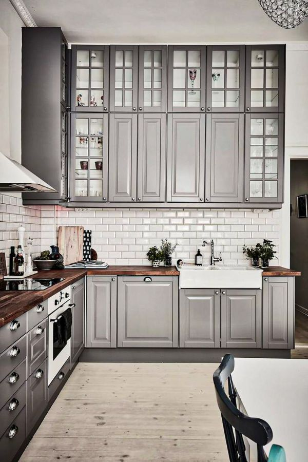 Lovely Grey Kitchen Cabinets Design Ideas For Cool Homes Page 11 Of 50 Evelyn S World My Dreams My Colors And My Life Kitchen Inspiration Design Kitchen Cabinet Design Grey Kitchen Cabinets