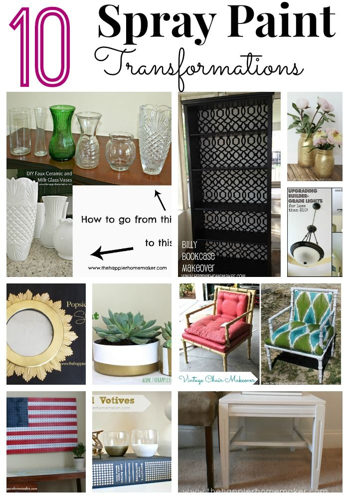 10 Awesome Spray Paint Transformations