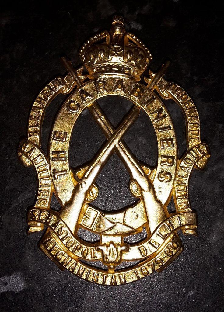 6th Dragoon Guards 1902-22 Officers Sabretache Badge