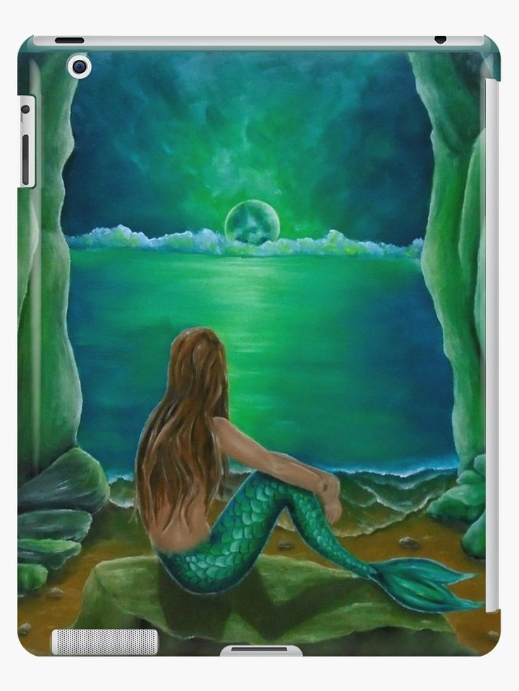 iPad Case/Skin,  mermaid,green,colorful,fantasy,unique,cool,fancy,beautiful,trendy,artistic,unusual,accessories,ideas,design,items,products,for sale,redbubble