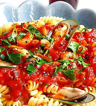 Pasta frutti di mare | Recept från Köket.se