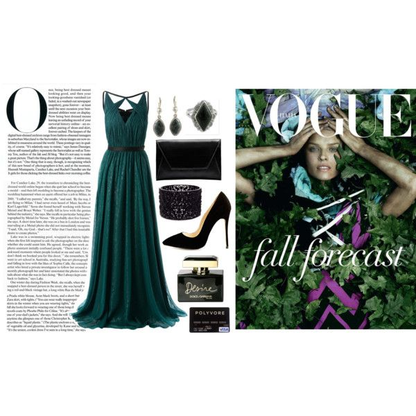 Dark Green Dressy Look by loveselena22 on Polyvore featuring Jason Wu, Flynn, Oasis, NOVICA and Dolce