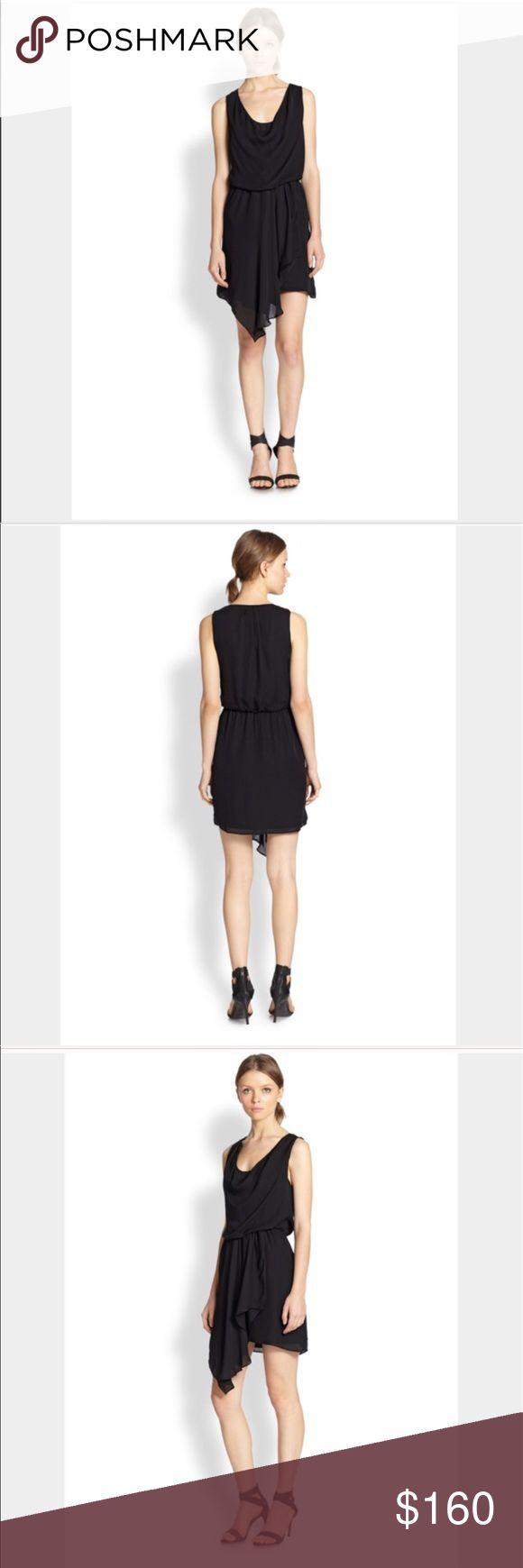 Joie black silk dress- NWT- size small Joie black silk dress- NWT- size small. A cowl neckline and draped skirt give this Joie dress a soft, graceful look. Gathered elastic waist. Lined. Fabric: silk chiffon. Shell: 100% silk. Stunning! Joie Dresses