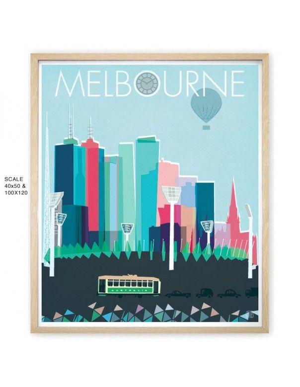 Melbourne Limited Edition Art Print by Nicholas Girling Printspace Printspace® shop online and wholesale Australia