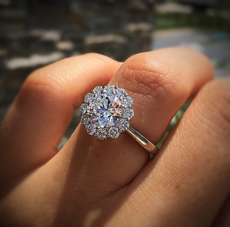 Tacori Full Bloom 55 2 Solitaire Engagement Ring Setting Round Halo Engagement Rings Tacori