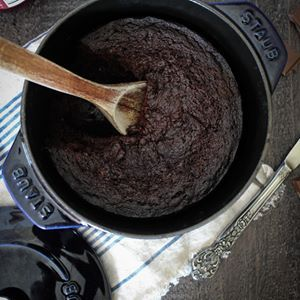 Staub's dutch oven, perfect for Fig+Bleu's Dutch Oven Chocolate Cake! #MadeinStaub