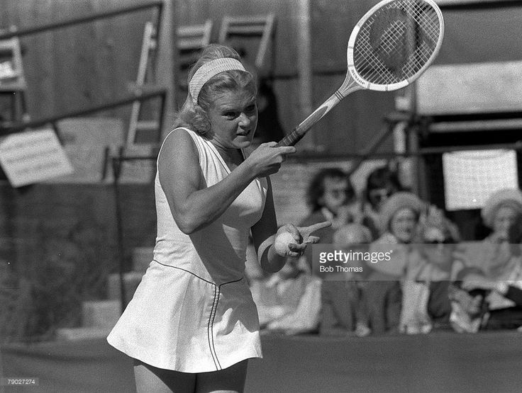 Sue Barker plays the Ladies Singles. Bournemouth, 1975