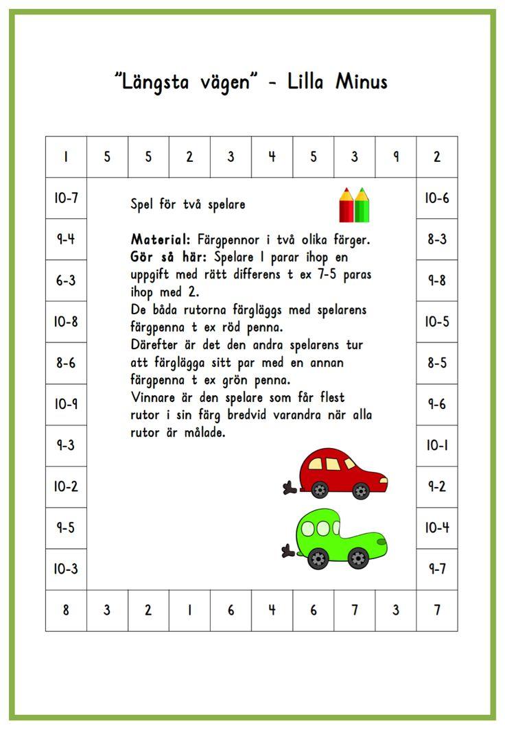 Längsta vägen Lilla Minus 8-10 (word-dok) Längsta vägen Lilla Minus 8-10 (PDF-fil)