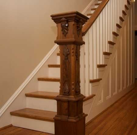 Perfect Staircase Newel Post