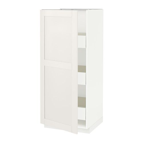 IKEA METOD/FÖRVARA High Cabinet With Drawers White/märsta White Cm FÖRVARA  Drawer Can Be Pulled Out To ¾ Of Its Total Depth And Has Plenty Of.