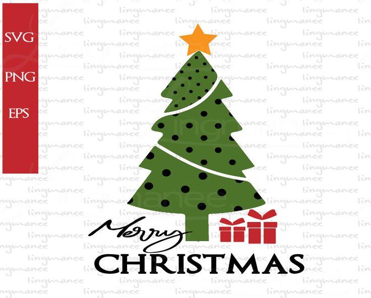 Polka Dot Christmas Tree Svg .Merry Christmas Svg.Digital
