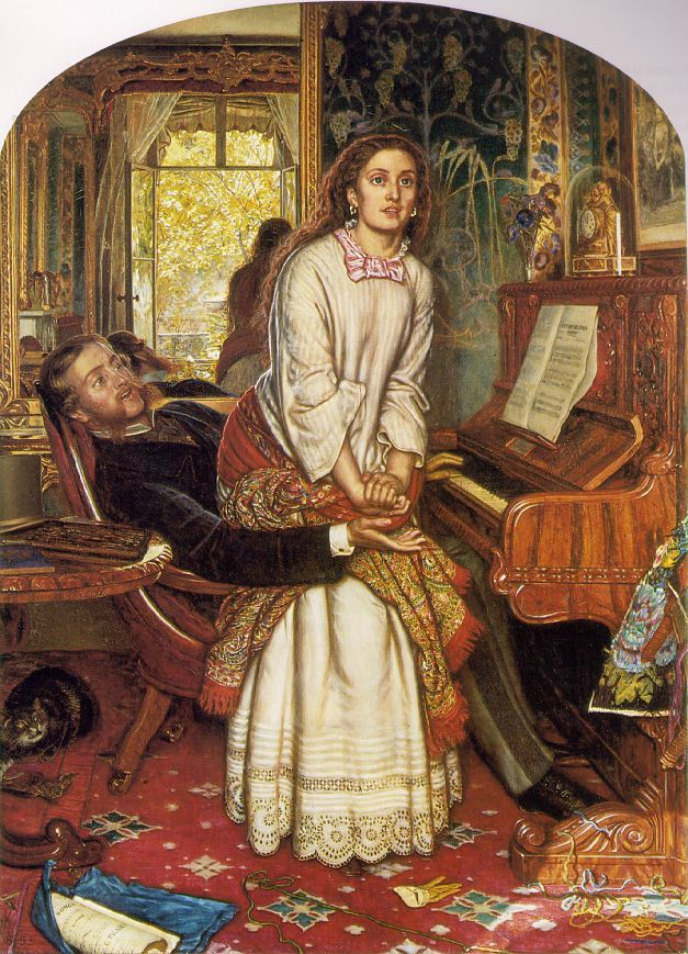 William Holman Hunt 1853, The Awakening Conscience. Sitter: Annie Millar
