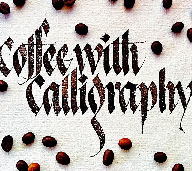 The best blend - Coffee with calligraphy