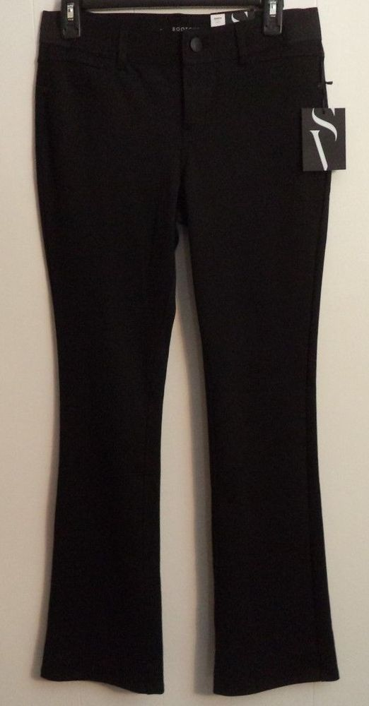 Simply Vera Vera Wang Black Bootcut Midrise Dress Work Pant Size Small W30 I32 #SimplyVeraVeraWang #DressPants
