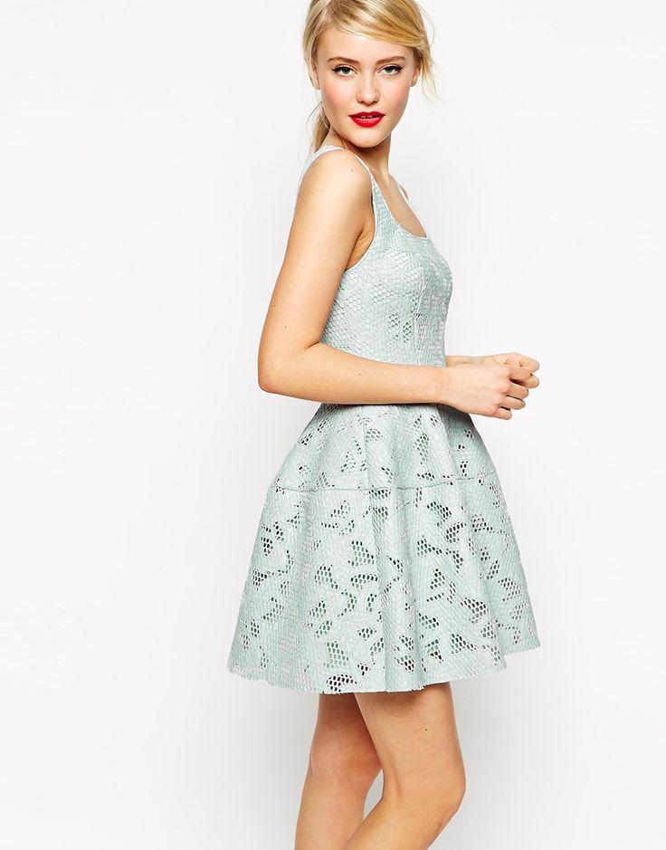 asos applique mesh lantern skirt dress at asos com