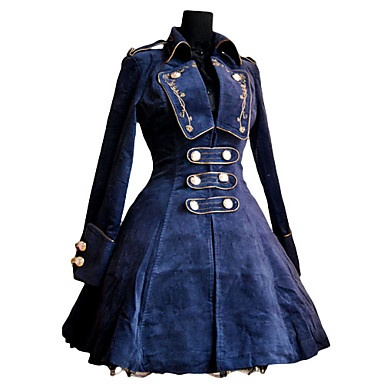 Roman Woolen Rose Pattern Embroidery Classic Lolita Coat – USD $ 149.99  Makes me think of Captain Hook!