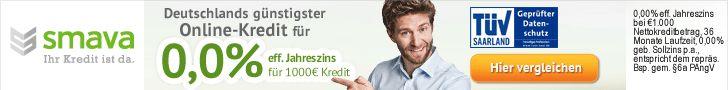 smava Kreditvergleich - SKG Bank mit 3,98%!