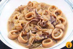 Calamares guisados fáciles. Receta casera y Vídeo Hoy os traemos un delicioso guiso de calamares y patatas. una receta muy tradicional en numerosos hogares