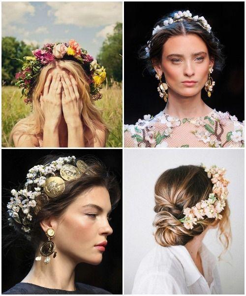 Spring 2014 Beauty Flowers In Her Hair