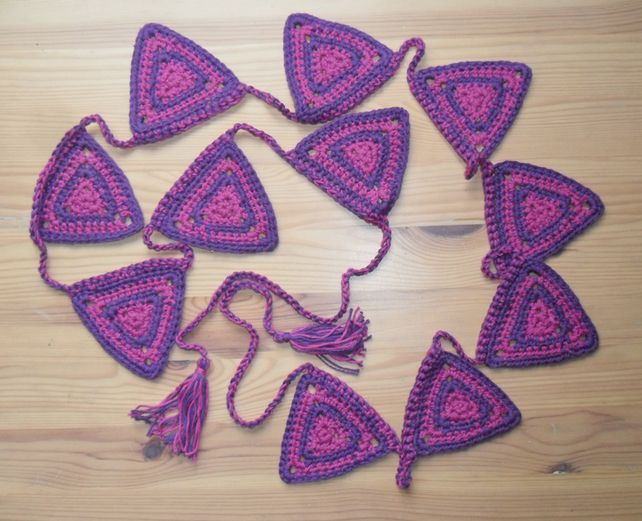Purple bunting £15.00