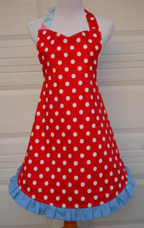 Holiday Apron Christmas Apron Ready to Ship Reversible