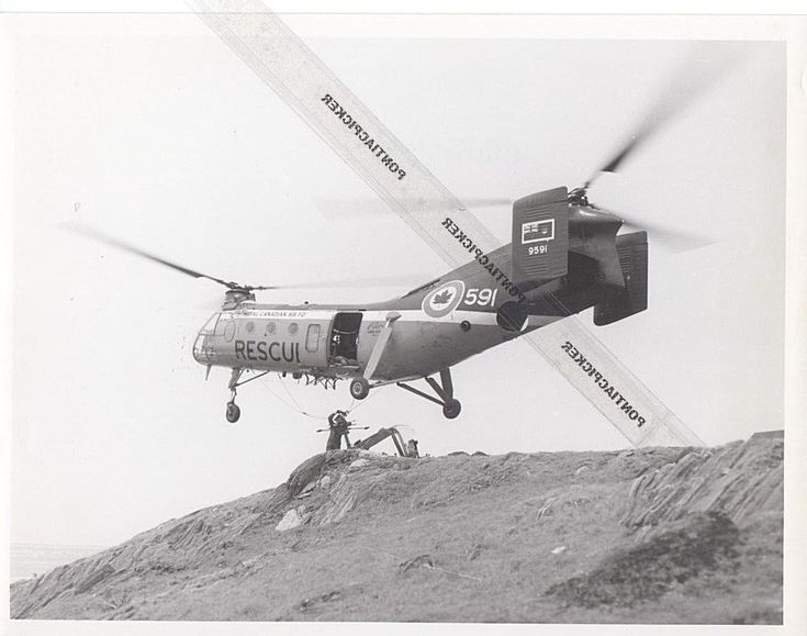 RCAF Boeing Piasecki H-21 Workhorse Helicopter  Military Air Force Vtg Photo 6x8