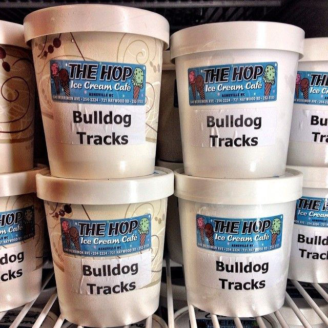 Bulldog Tracks pints in the #UNCAsheville Highsmith Student Union. This Ice Cream helped us start The Hop Scholarship for UNC Asheville students, which is awarded every year!