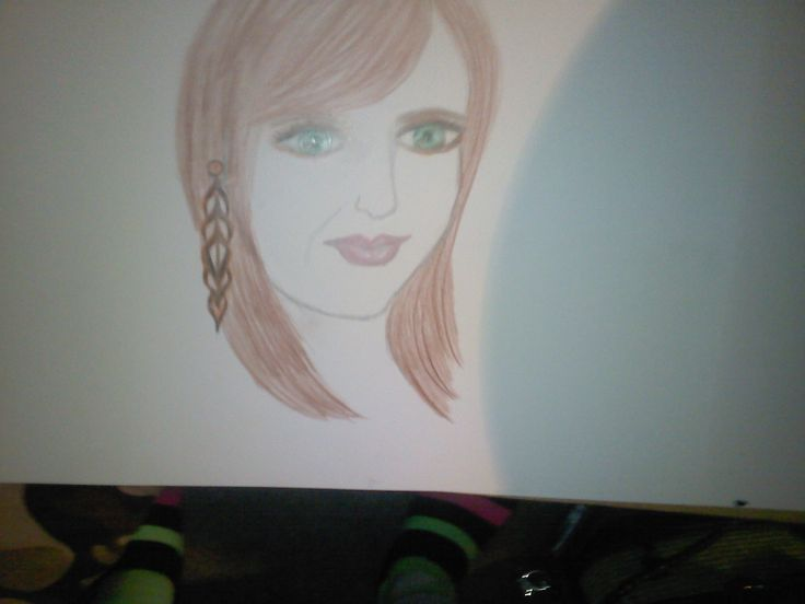 pencil drawing of one of my daughters
