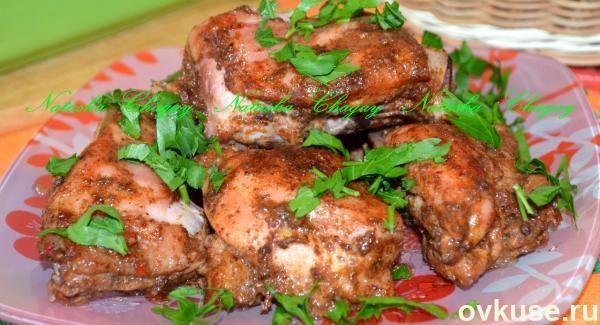 Куриные части в духовке рецепт с фото