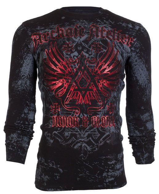 Archaic AFFLICTION Men THERMAL T-Shirt ACHILLES Tattoo Biker MMA UFC S-3XL $58 a #Affliction #GraphicTee