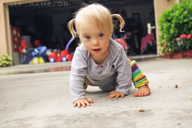 Kelle Hampton ought to be applauded for taking the fear out  of having a child with down syndrome and showing the BEAUTY instead. (seriously, have you seen a cuter child??): Applaud, Beauty Children, Down Syndrome Children, Cuter Child, Baby Girls, Adorable, Kells Hampton, Kellehampton Com, Fear