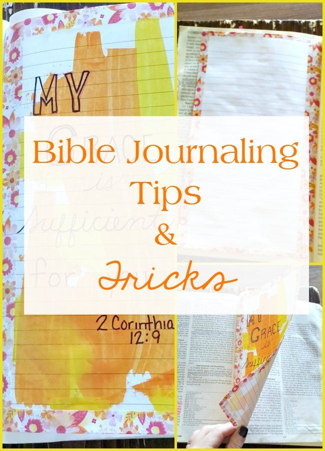 I'm sharing tips, tricks and pictures on how you can enjoy the spiritual discipline of Bible journaling without a journaling Bible.