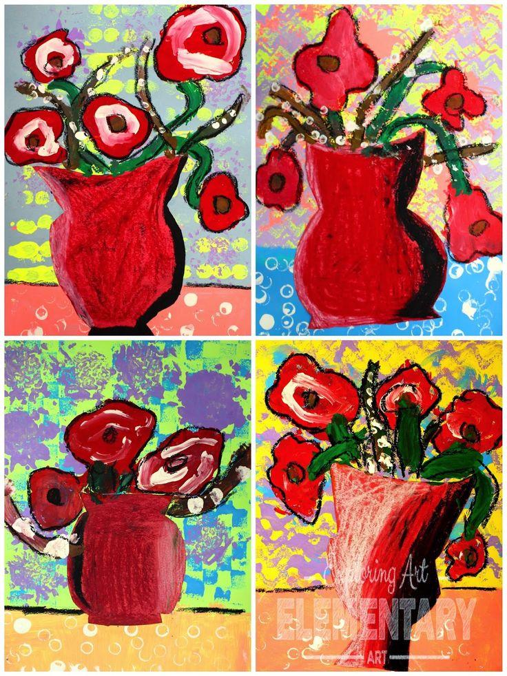 1st grade Van Gogh Poppies