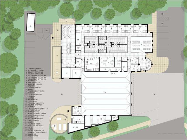 49 best fire station images on pinterest architecture contemporary architecture and architects for Fire station floor plans design