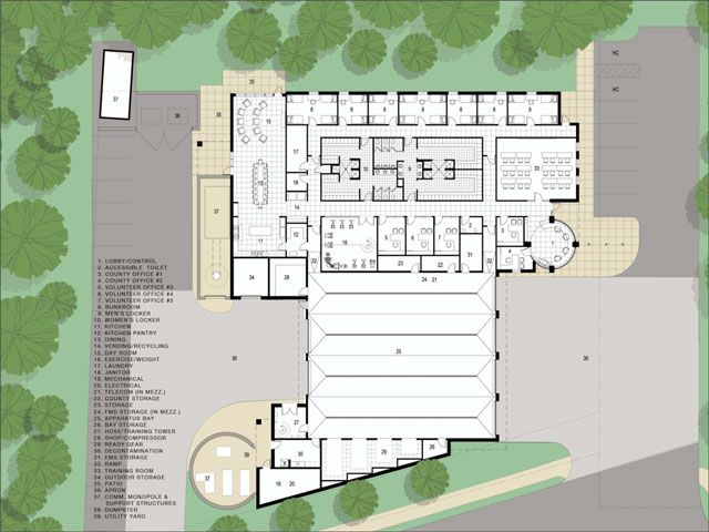 Fire Station Architectural Site Plan Google Search Fire Station Pinterest Site Plans