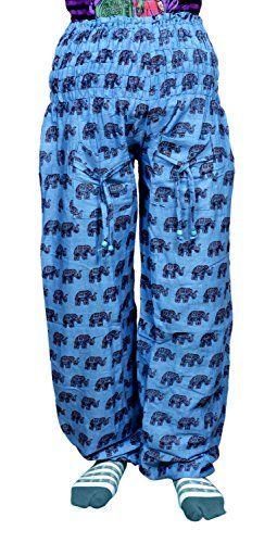 Krishna Mart Cotton Blue Elephant Genie Harem Pants Boho Gypsy Trousers Krishna Mart India http://www.amazon.com/dp/B00T7DAXKS/ref=cm_sw_r_pi_dp_IH.xwb0J5B0M2