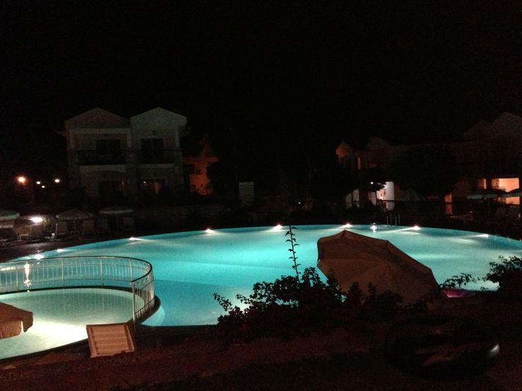 Pool lights at the Emerald Villa complex #emeraldvilla #emeraldheights #turkey #ovacik #holiday