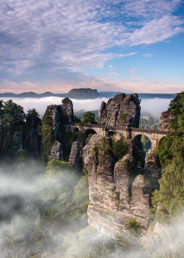 Morning mist in Saxon Switzerland by Jens Böhme on 500px