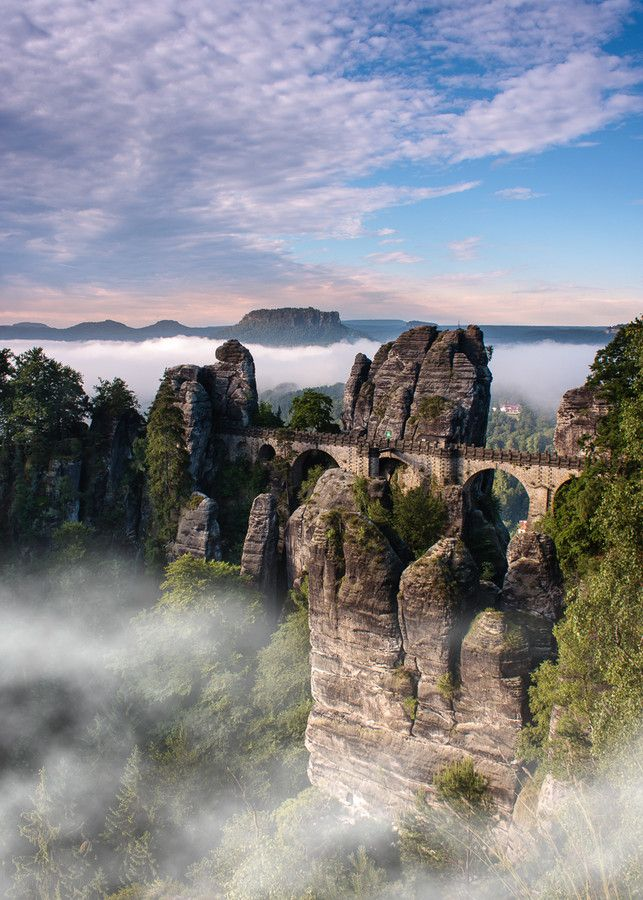 Morning mist in Saxon Switzerland by Jens Böhme on 500px
