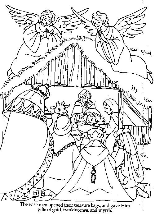 The Wise Men Bible Coloring Pages