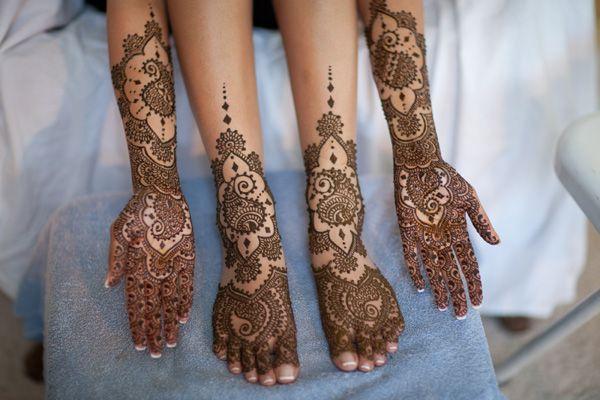 beautiful, intricate mehndi