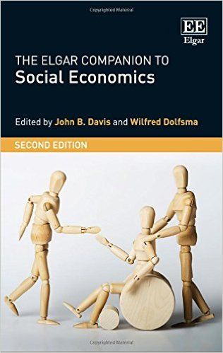 The Elgar companion to social economics (EBOOK) http://www.elgaronline.com/view/9781783478538.xml This comprehensive second edition of The Elgar Companion to Social Economics presents an overview of a dynamic and growing field in economics that emphasizes the key role that values play in the economy and in economic life. Social economics treats the economy and economics as being embedded in the larger web of social and ethical relationships.