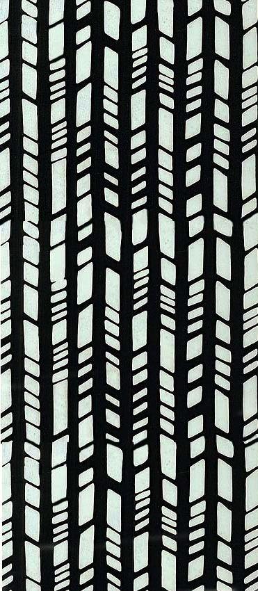 chevron stripe : black & white