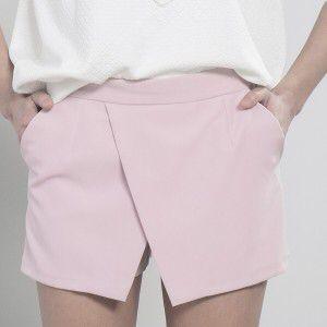 Falda pantalón en color malva, disponible también en beige. Eyshe.com