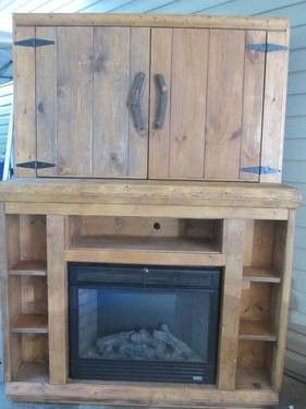 entertainment center with gas fireplace